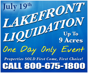 Exclusive Lakefront Liquidation July 19th!